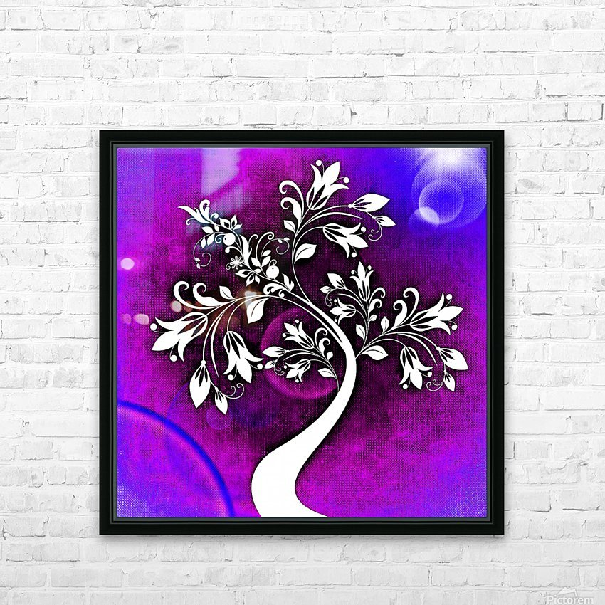 FLOWER TREE 01_OSG HD Sublimation Metal print with Decorating Float Frame (BOX)