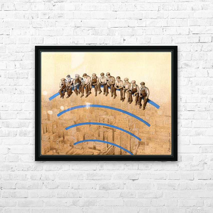 workers HD Sublimation Metal print with Decorating Float Frame (BOX)