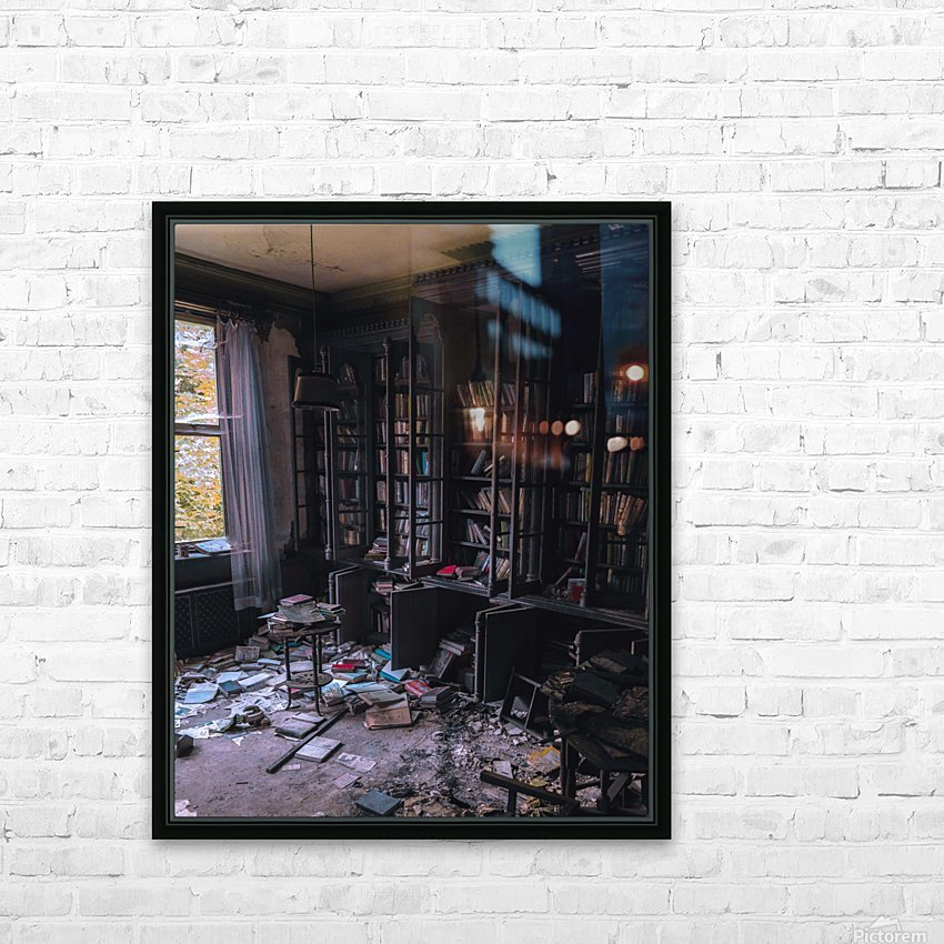Abandoned Mansion Library HD Sublimation Metal print with Decorating Float Frame (BOX)