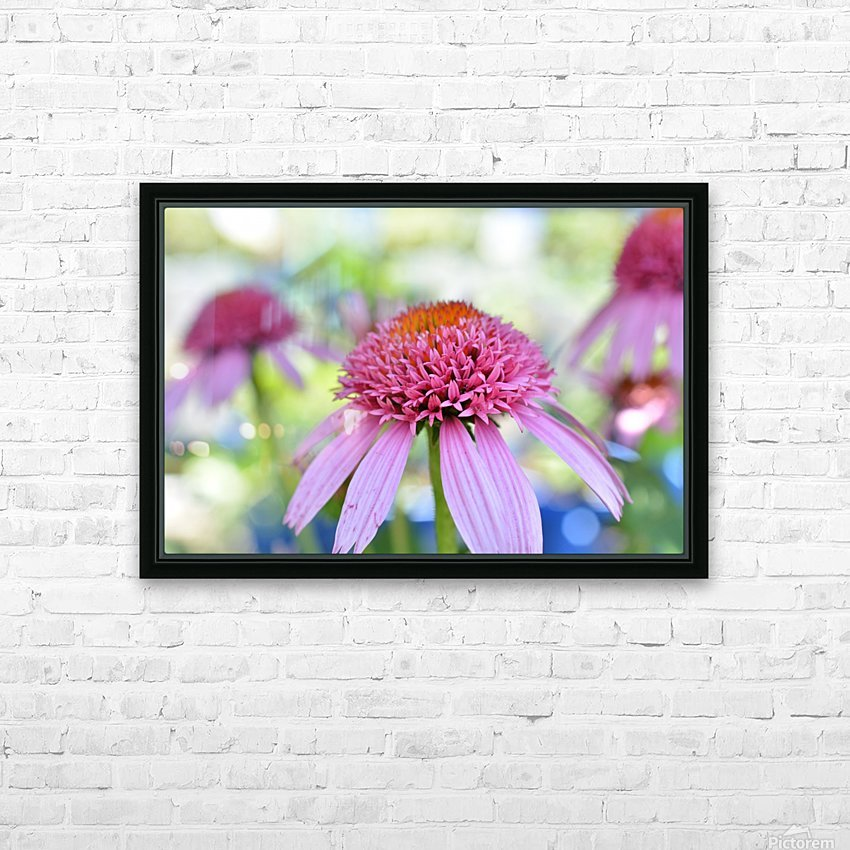 Pink Flowers Photograph HD Sublimation Metal print with Decorating Float Frame (BOX)