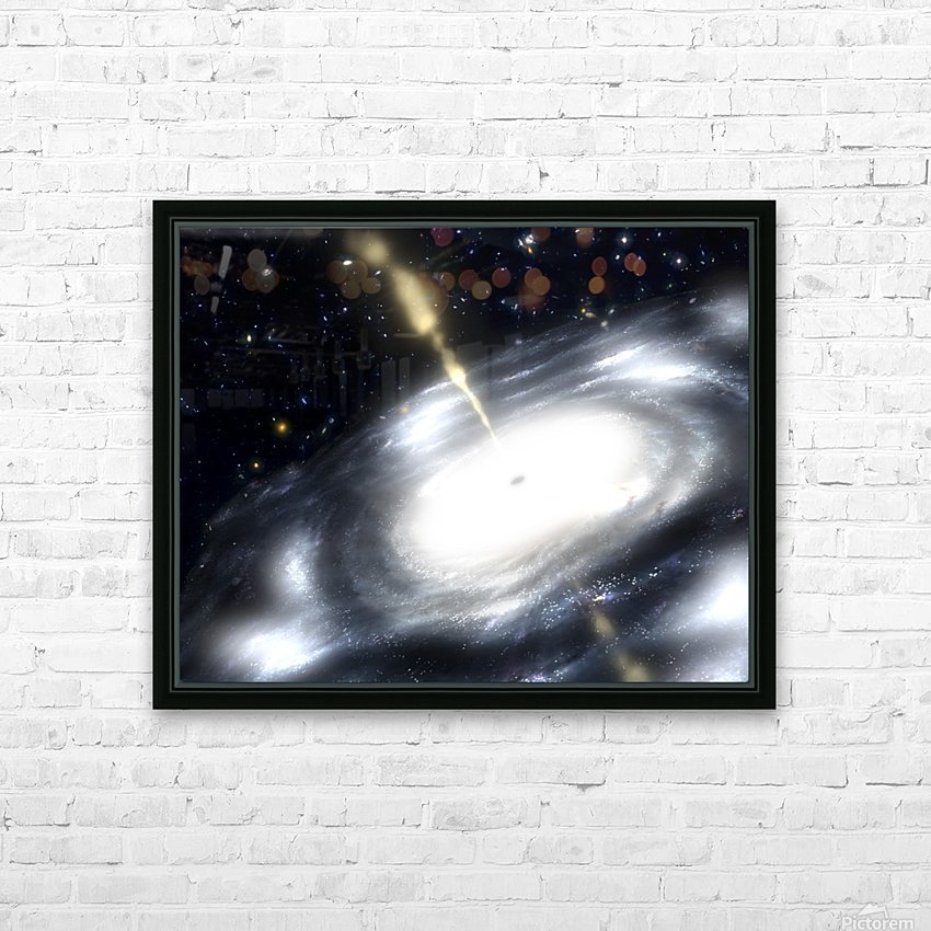 A rare galaxy that is extremely dusty and produces radio jets HD Sublimation Metal print with Decorating Float Frame (BOX)
