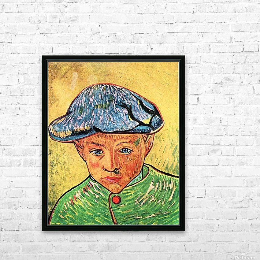 Camille Roulin by Van Gogh HD Sublimation Metal print with Decorating Float Frame (BOX)