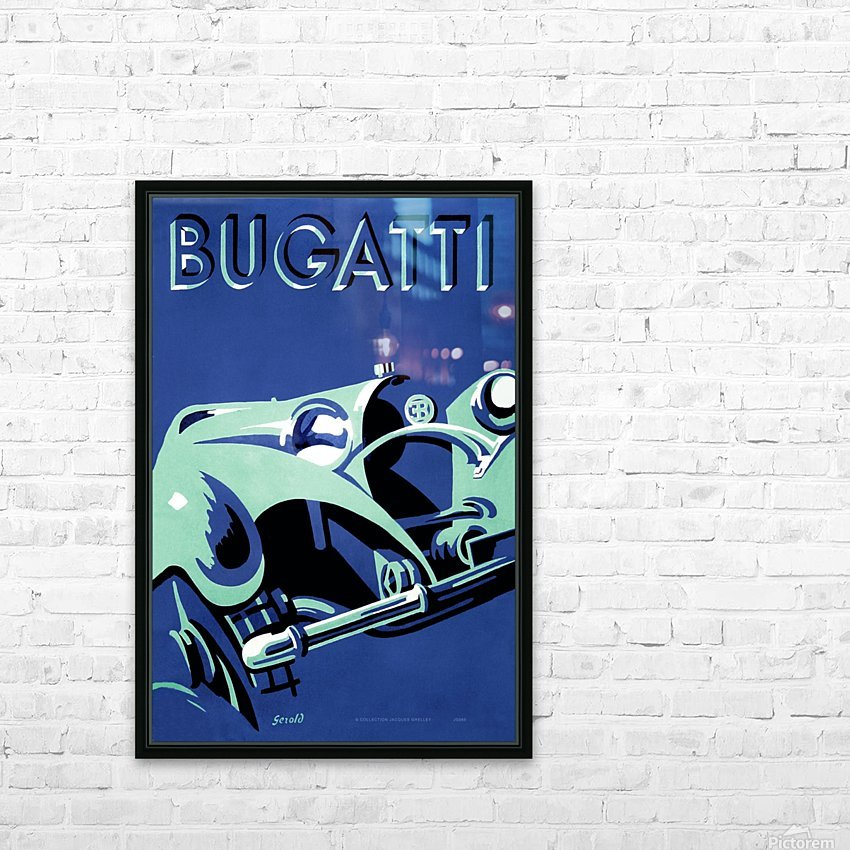 Bugatti Type 50 Super Roadster 1932 HD Sublimation Metal print with Decorating Float Frame (BOX)