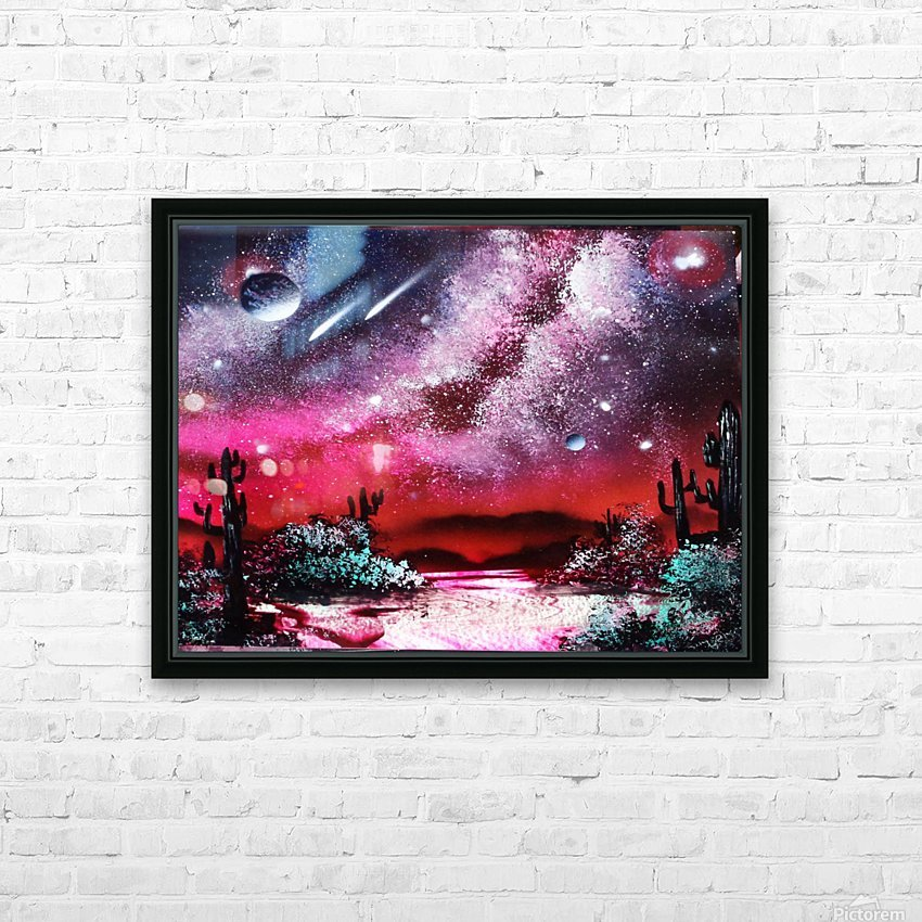 Cactus galaxy HD Sublimation Metal print with Decorating Float Frame (BOX)