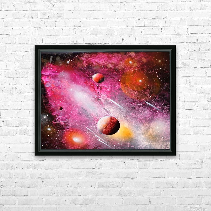 Fish galaxy HD Sublimation Metal print with Decorating Float Frame (BOX)