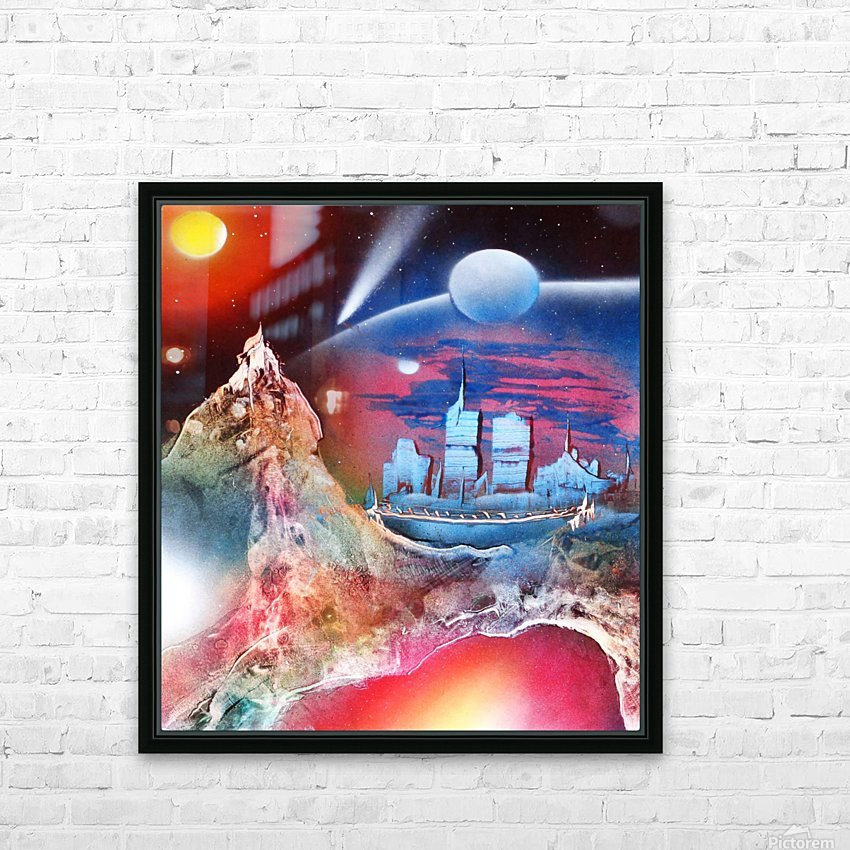 City 3 HD Sublimation Metal print with Decorating Float Frame (BOX)