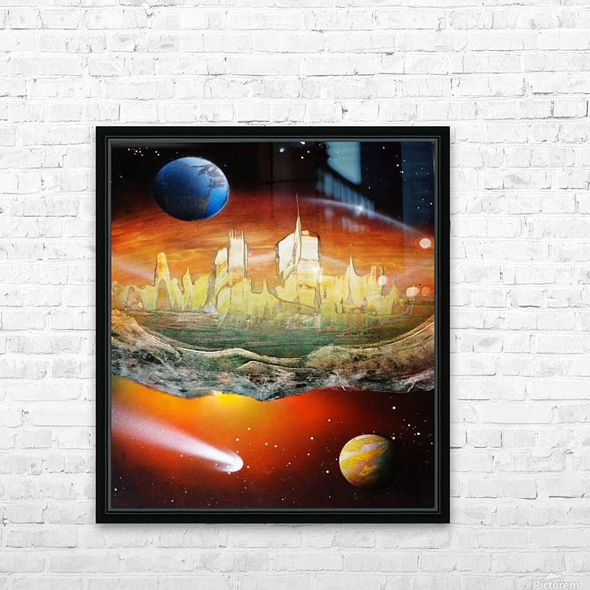 City HD Sublimation Metal print with Decorating Float Frame (BOX)