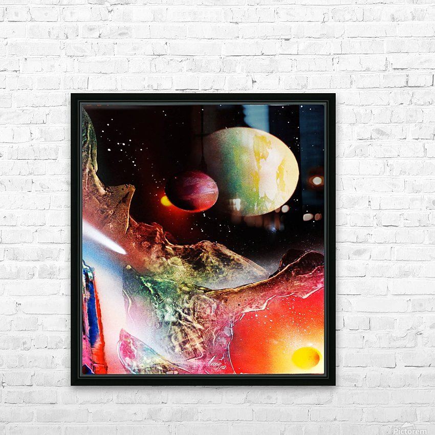 Abstract HD Sublimation Metal print with Decorating Float Frame (BOX)