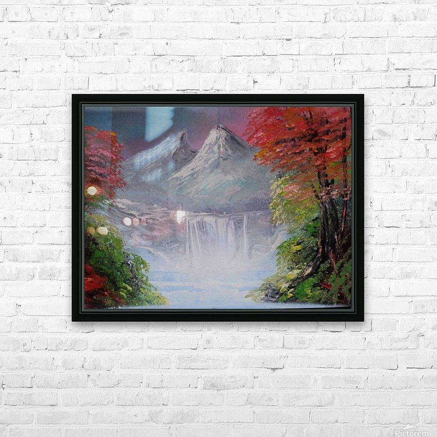 Pastel landscape HD Sublimation Metal print with Decorating Float Frame (BOX)