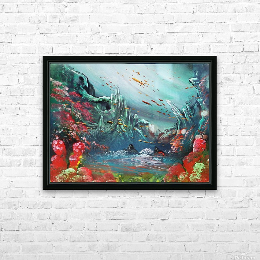 Under water HD Sublimation Metal print with Decorating Float Frame (BOX)