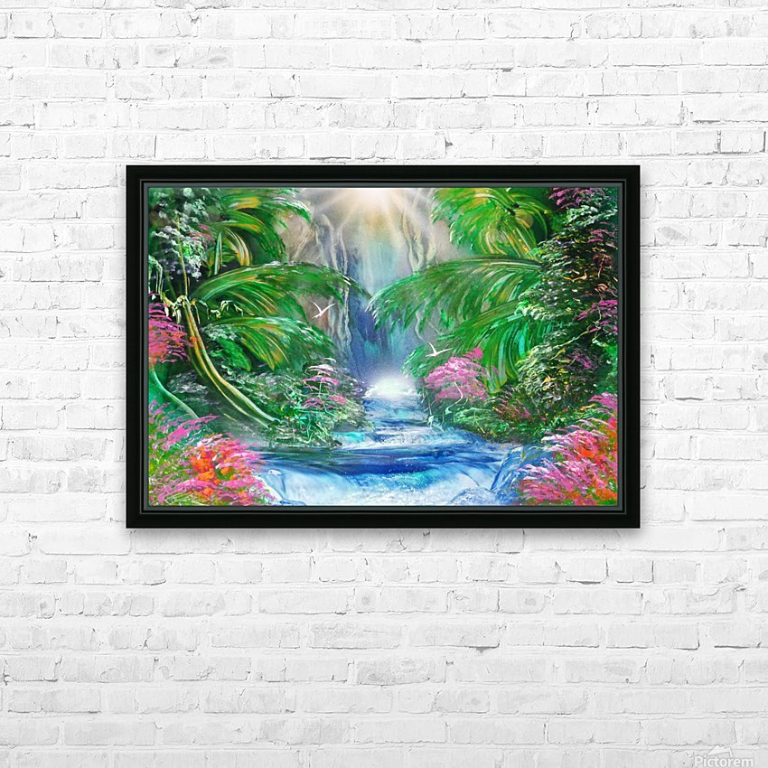 Jungle  HD Sublimation Metal print with Decorating Float Frame (BOX)