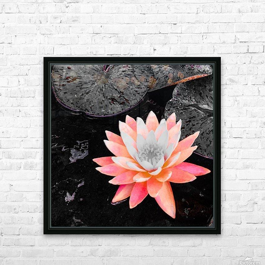 Lotus HD sublimation métal imprimé avec décoration flotteur cadre (boîte)