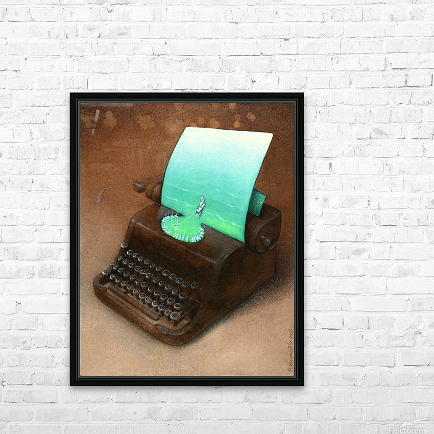 typewriter HD Sublimation Metal print with Decorating Float Frame (BOX)