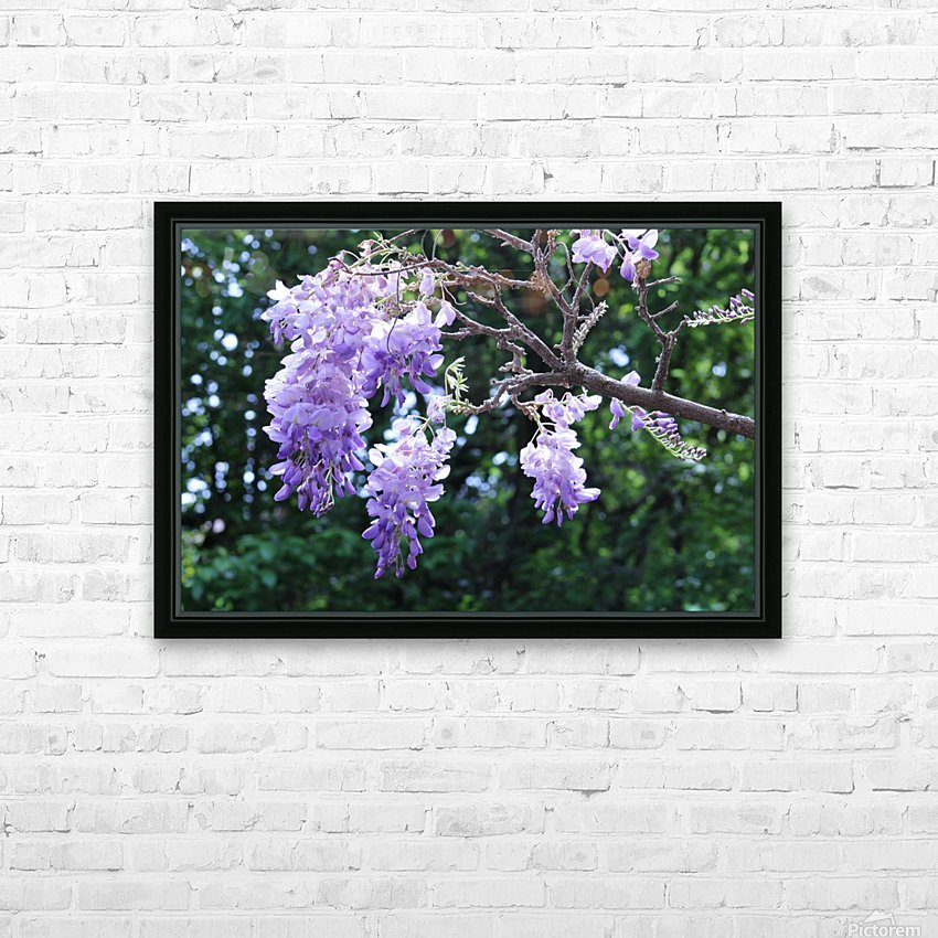 Wisteria HD Sublimation Metal print with Decorating Float Frame (BOX)