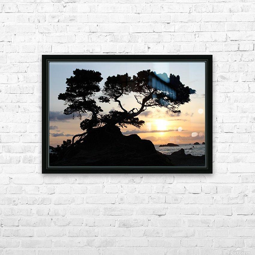 Coastal Sunset HD Sublimation Metal print with Decorating Float Frame (BOX)