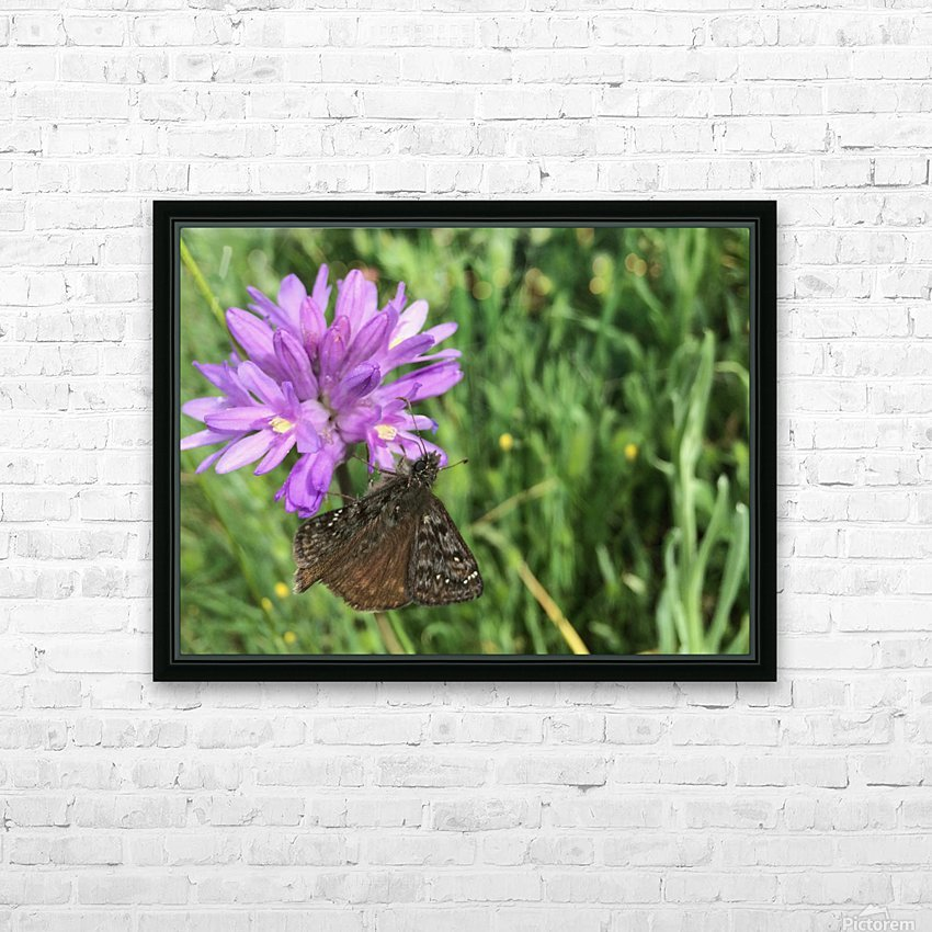 Butterfly on Wildflower HD Sublimation Metal print with Decorating Float Frame (BOX)