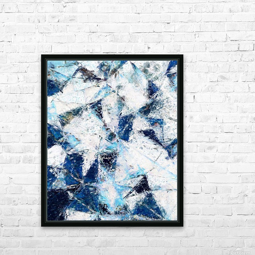 Exploding Panels HD Sublimation Metal print with Decorating Float Frame (BOX)