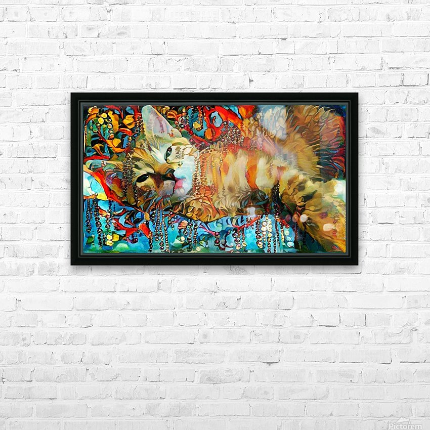Lying Cat HD Sublimation Metal print with Decorating Float Frame (BOX)