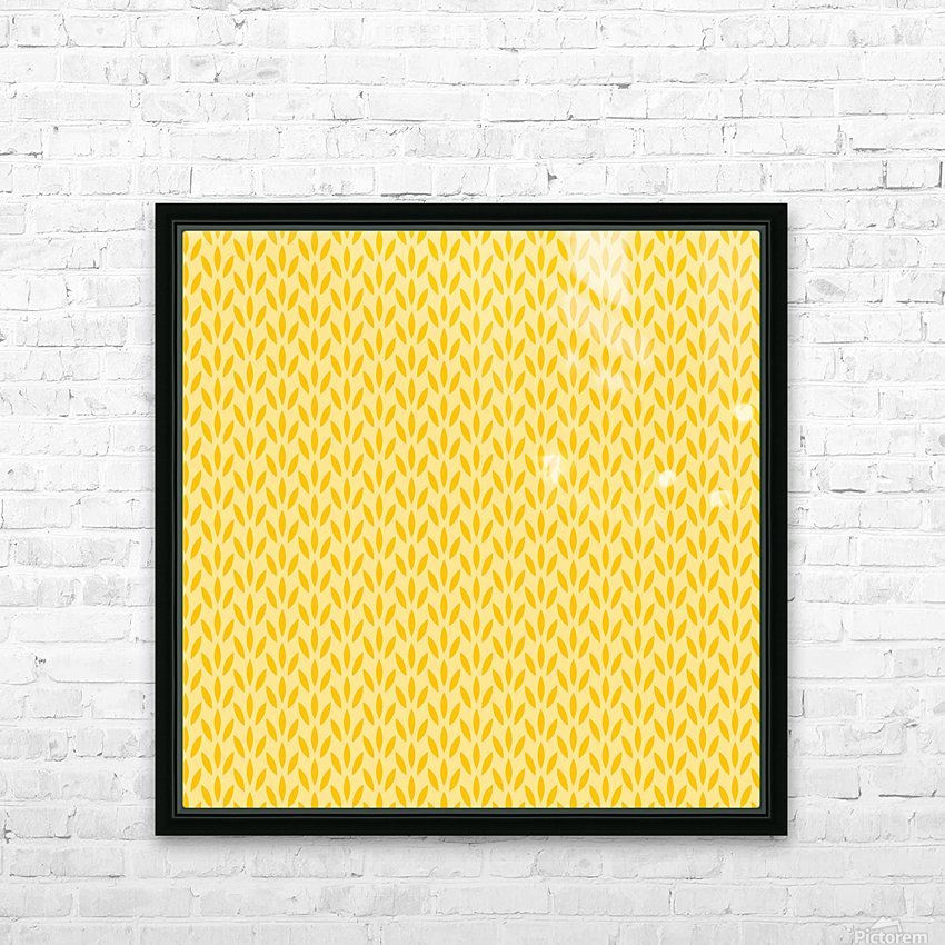 Yellow Flora HD Sublimation Metal print with Decorating Float Frame (BOX)