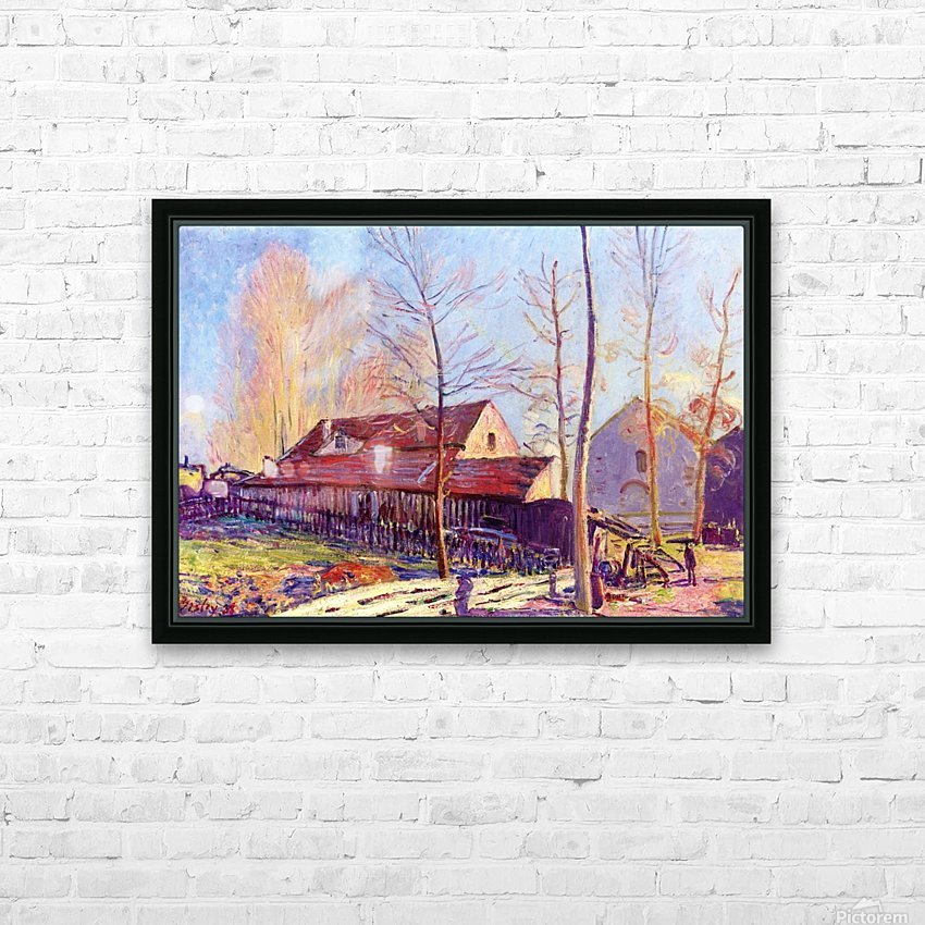 The Mills of Moret, Frost, Evening Effect HD Sublimation Metal print with Decorating Float Frame (BOX)