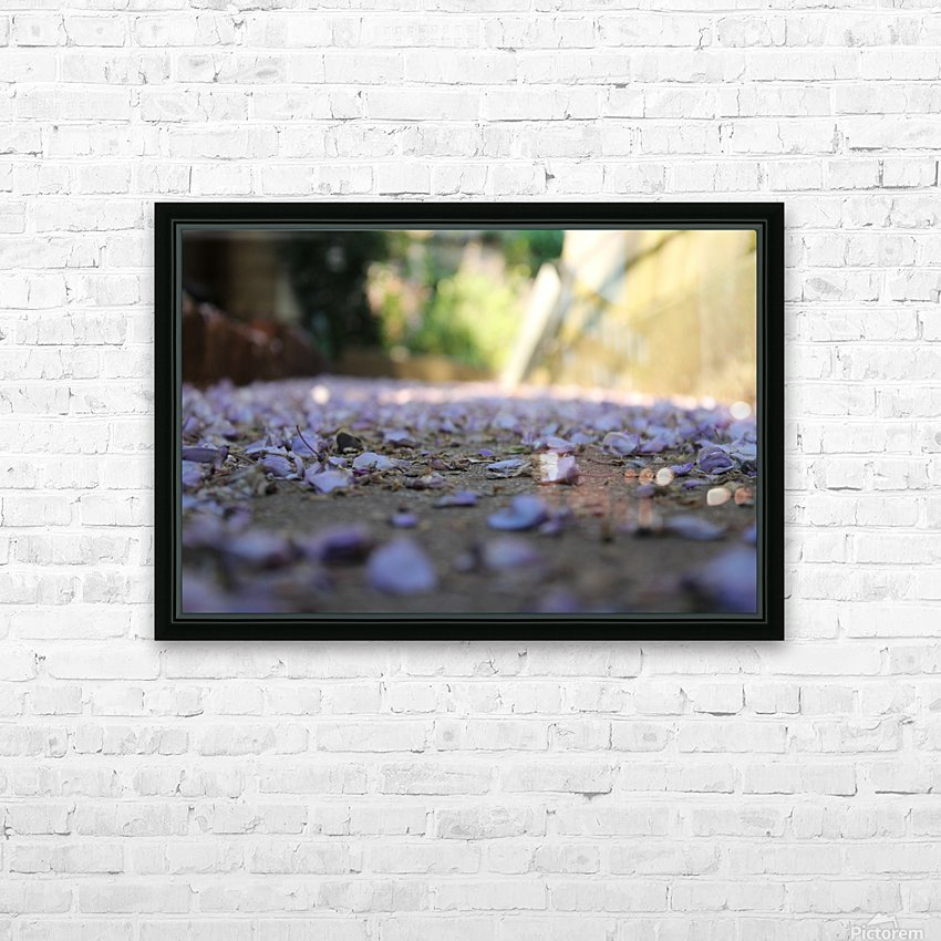 Fall Petals HD Sublimation Metal print with Decorating Float Frame (BOX)
