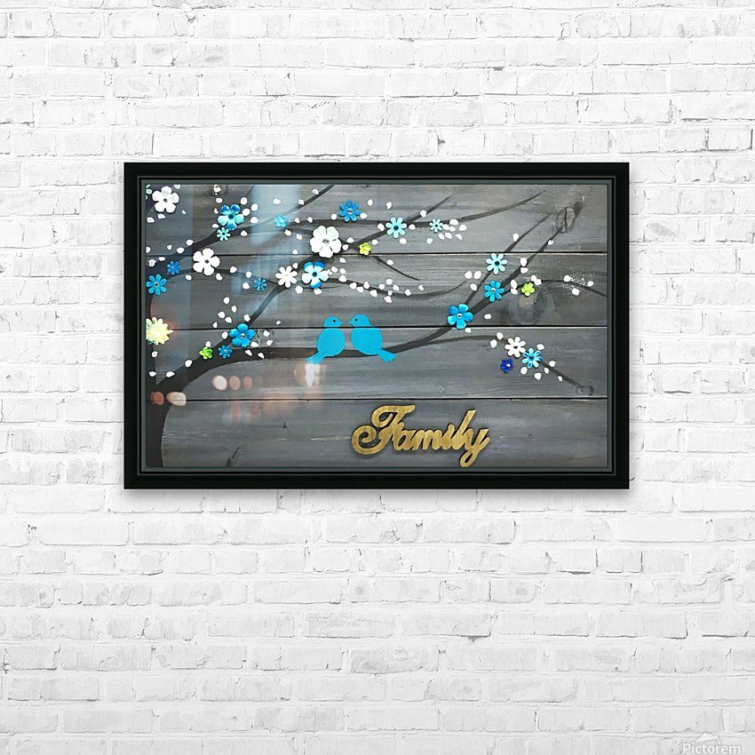 Love Birds HD Sublimation Metal print with Decorating Float Frame (BOX)