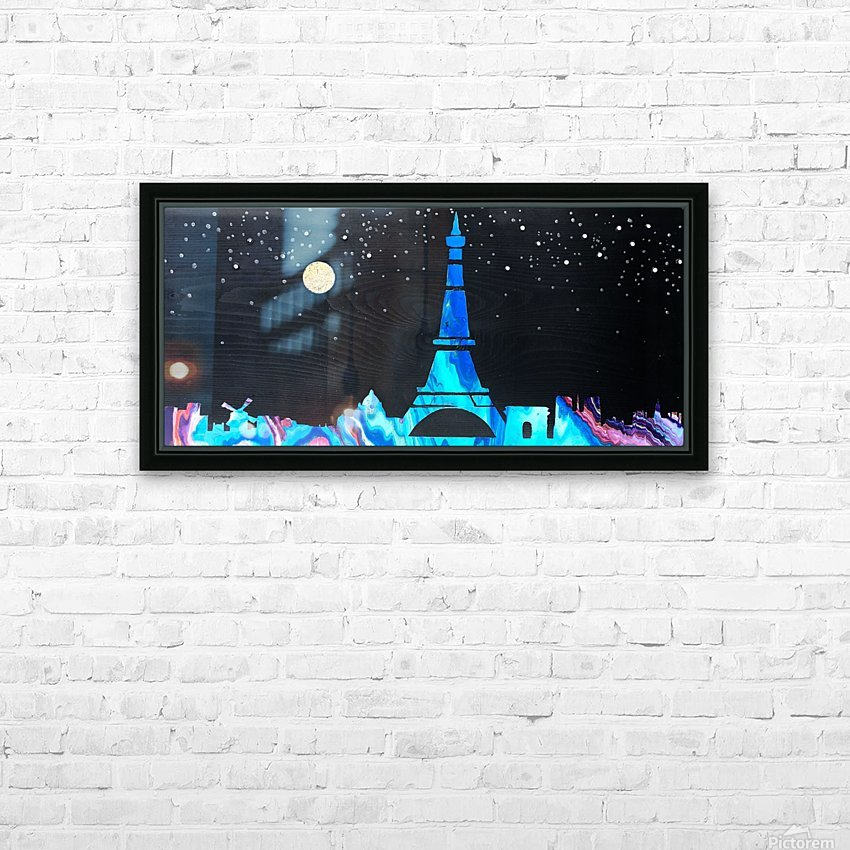 I love Paris on Wood 2 HD Sublimation Metal print with Decorating Float Frame (BOX)