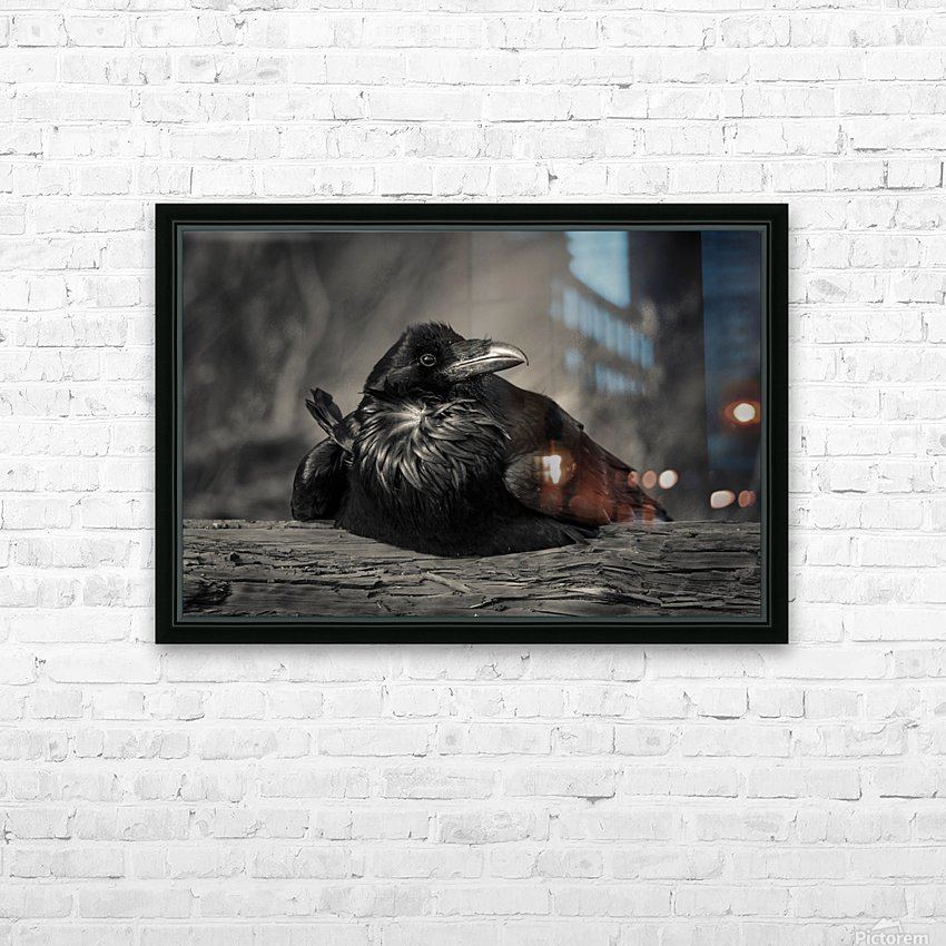 Jabba the Raven HD Sublimation Metal print with Decorating Float Frame (BOX)