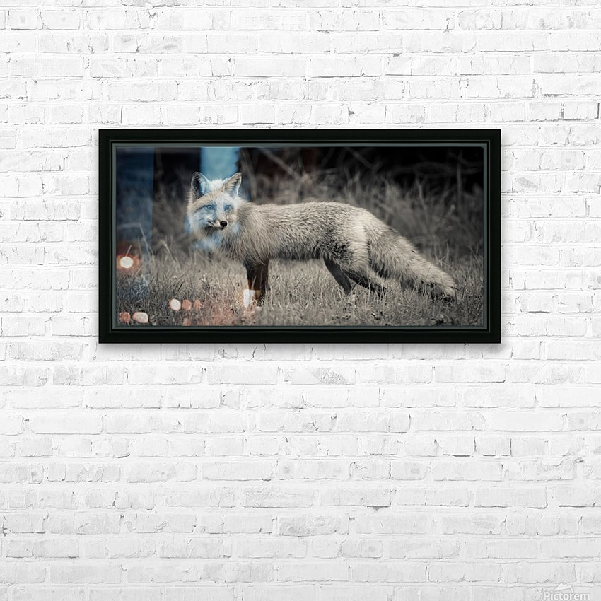 Red Fox HD Sublimation Metal print with Decorating Float Frame (BOX)