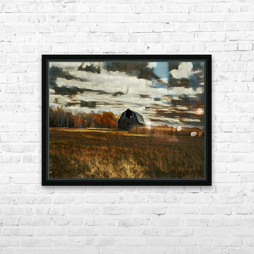 barn um HD Sublimation Metal print with Decorating Float Frame (BOX)