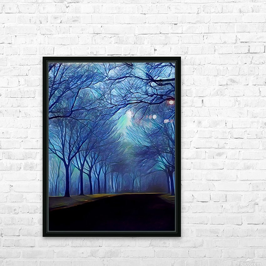 study in blue HD Sublimation Metal print with Decorating Float Frame (BOX)