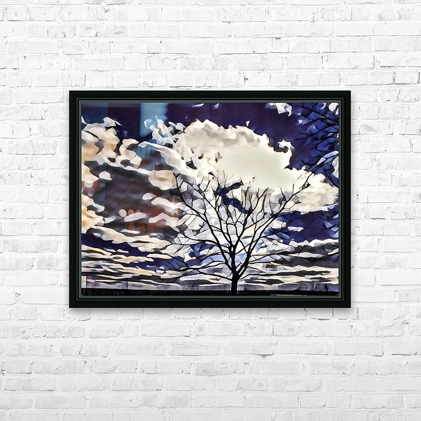 regal tree HD Sublimation Metal print with Decorating Float Frame (BOX)