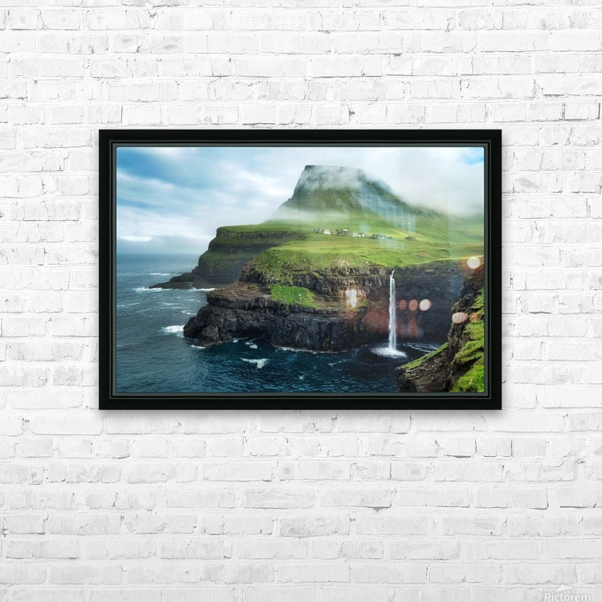 Múlafossur Waterfall HD Sublimation Metal print with Decorating Float Frame (BOX)
