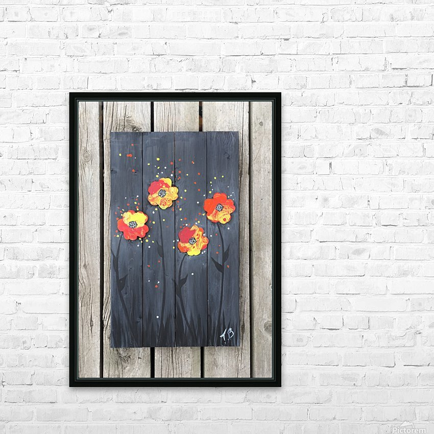Pop up Daisies HD Sublimation Metal print with Decorating Float Frame (BOX)