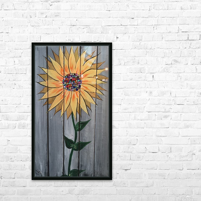 Jeweled Daisy HD Sublimation Metal print with Decorating Float Frame (BOX)