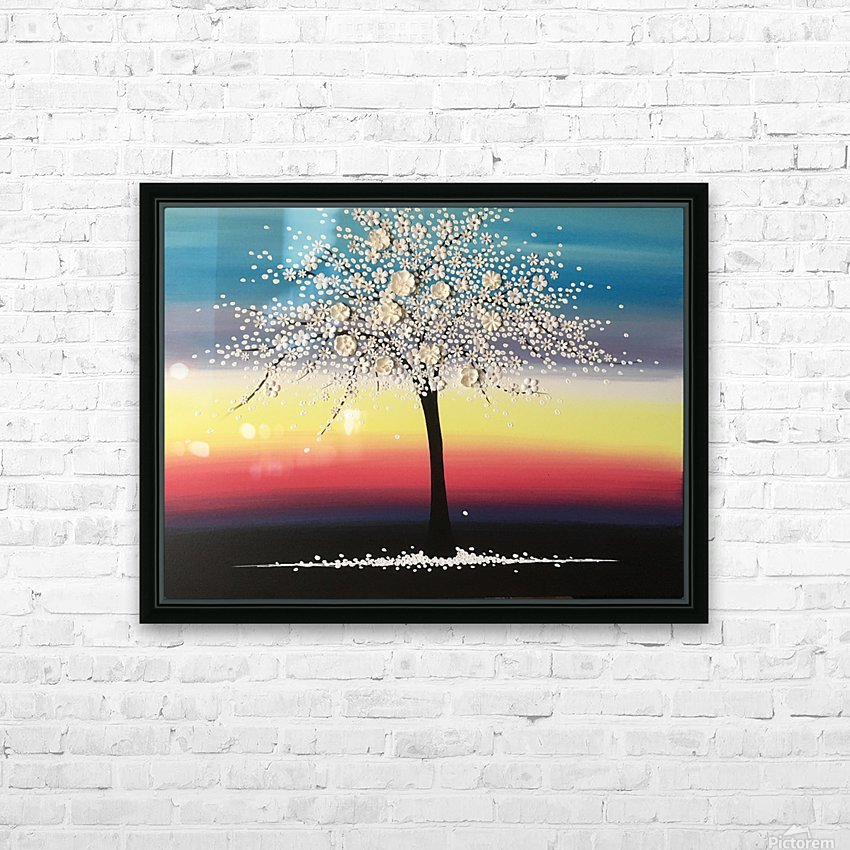 Colorful Blooms HD Sublimation Metal print with Decorating Float Frame (BOX)