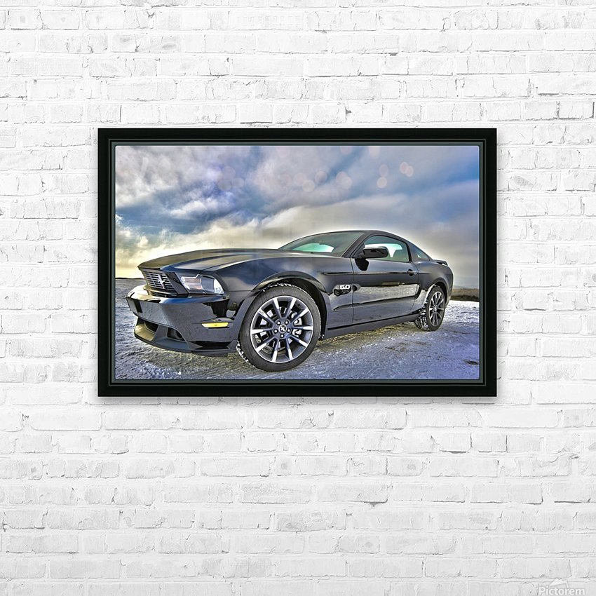 ford mustang  HD Sublimation Metal print with Decorating Float Frame (BOX)