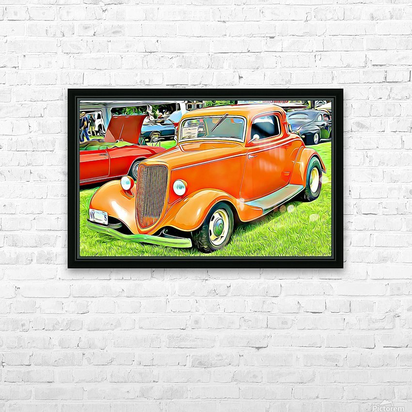 hot rod classic car  HD Sublimation Metal print with Decorating Float Frame (BOX)
