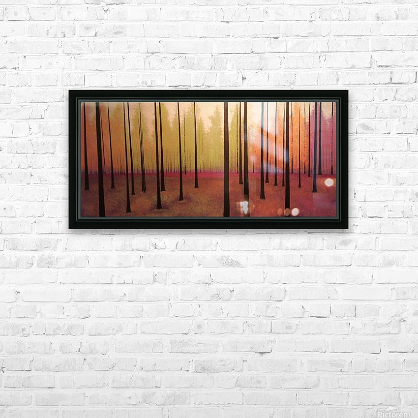 Sherbert Forest HD Sublimation Metal print with Decorating Float Frame (BOX)