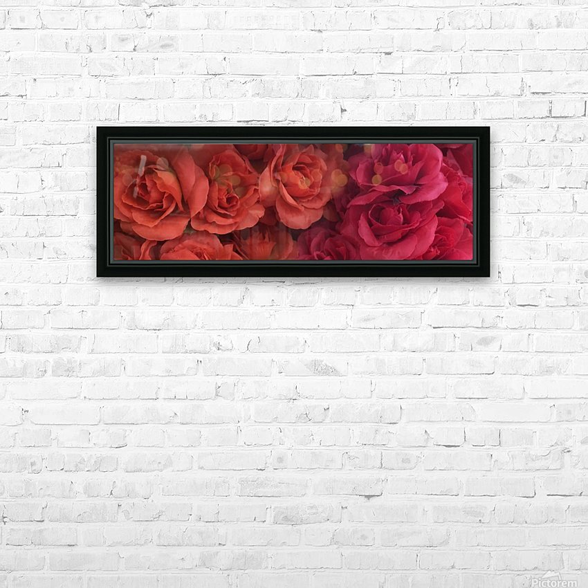 Lovely Red Flowers HD Sublimation Metal print with Decorating Float Frame (BOX)
