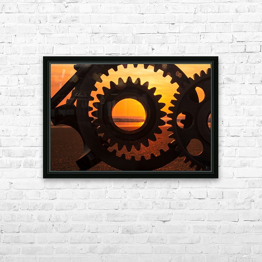 Morning ride HD Sublimation Metal print with Decorating Float Frame (BOX)