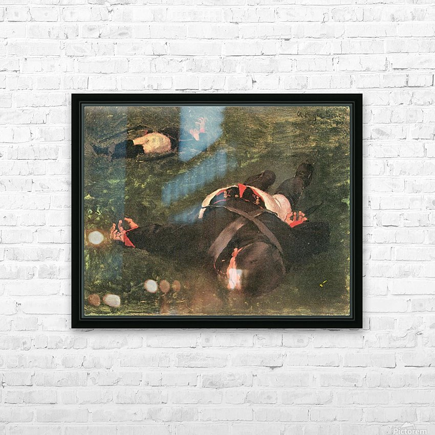 Dead Frenchmen by Albin Egger-Lienz HD Sublimation Metal print with Decorating Float Frame (BOX)