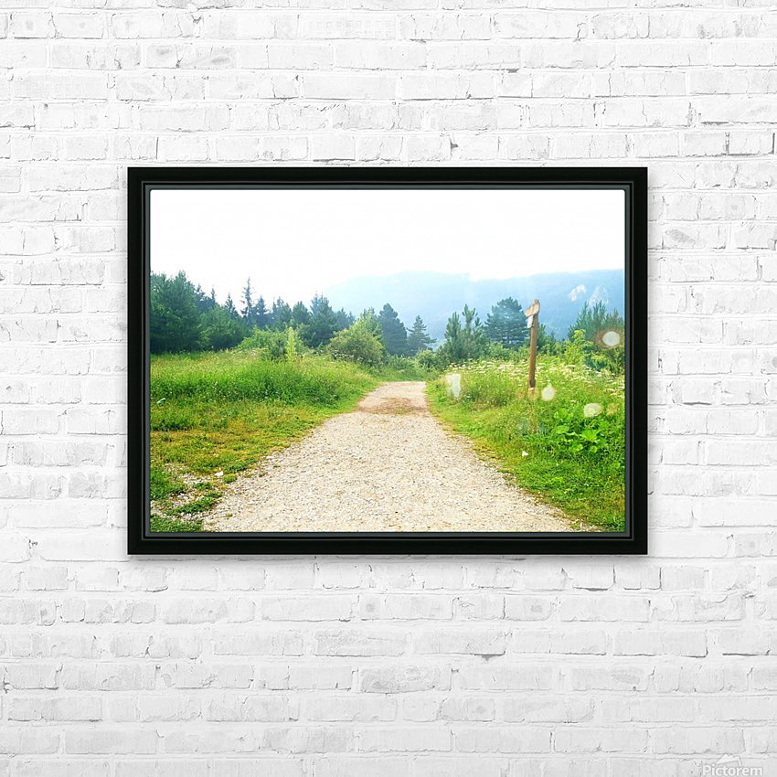dream road HD Sublimation Metal print with Decorating Float Frame (BOX)