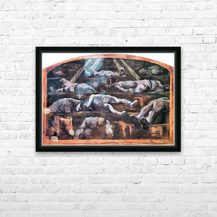 Dead victims, design (II) by Albin Egger-Lienz HD Sublimation Metal print with Decorating Float Frame (BOX)