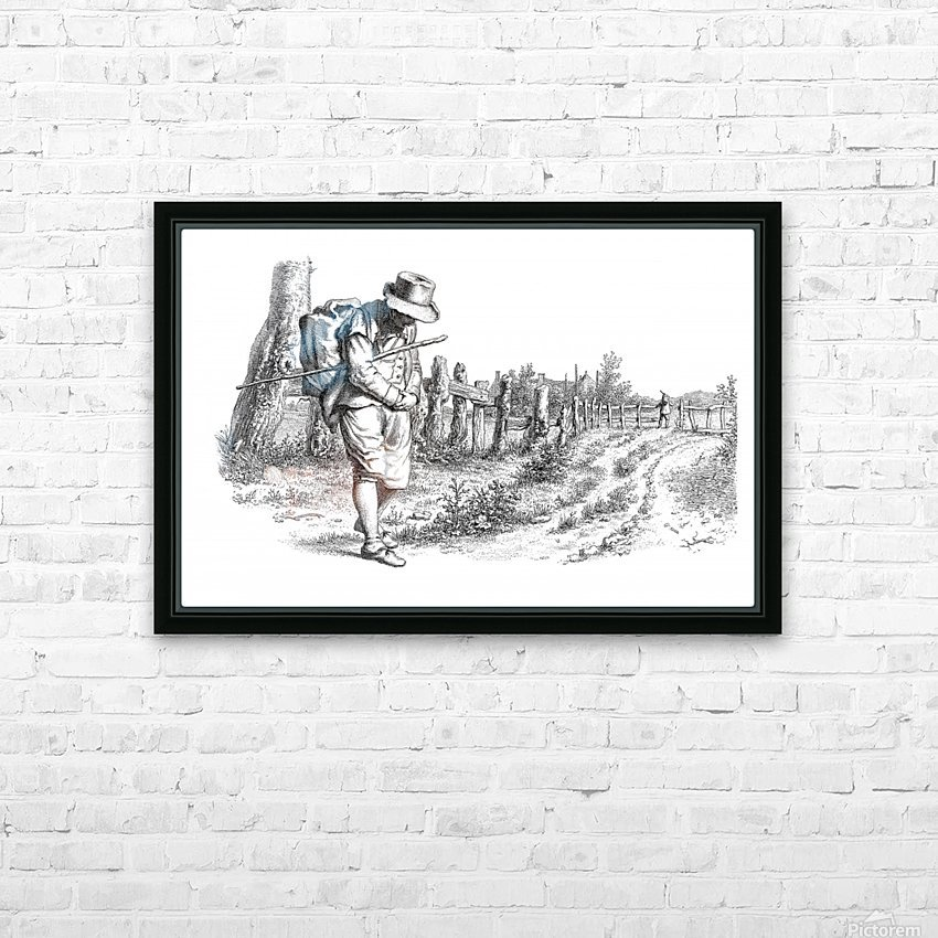 Traveler On A Country Road_OSG HD Sublimation Metal print with Decorating Float Frame (BOX)