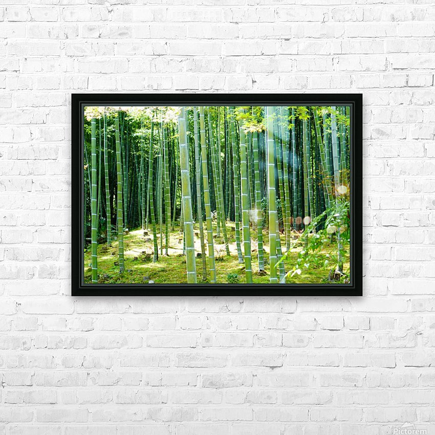 Bamboo Forest HD Sublimation Metal print with Decorating Float Frame (BOX)