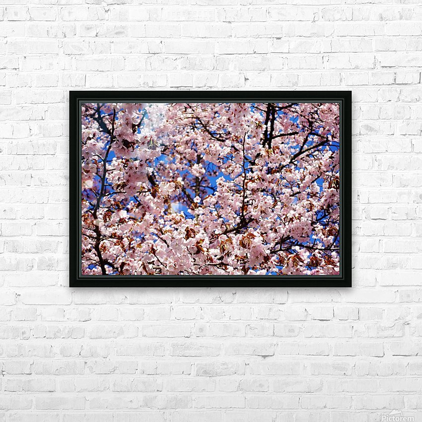 Cherry Blossom HD Sublimation Metal print with Decorating Float Frame (BOX)