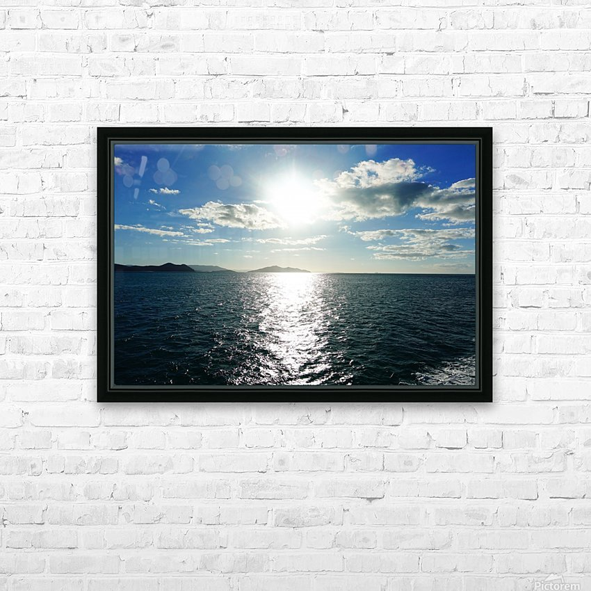 Sea Sun HD Sublimation Metal print with Decorating Float Frame (BOX)
