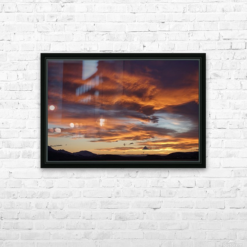 Icelandic Sunrise HD Sublimation Metal print with Decorating Float Frame (BOX)