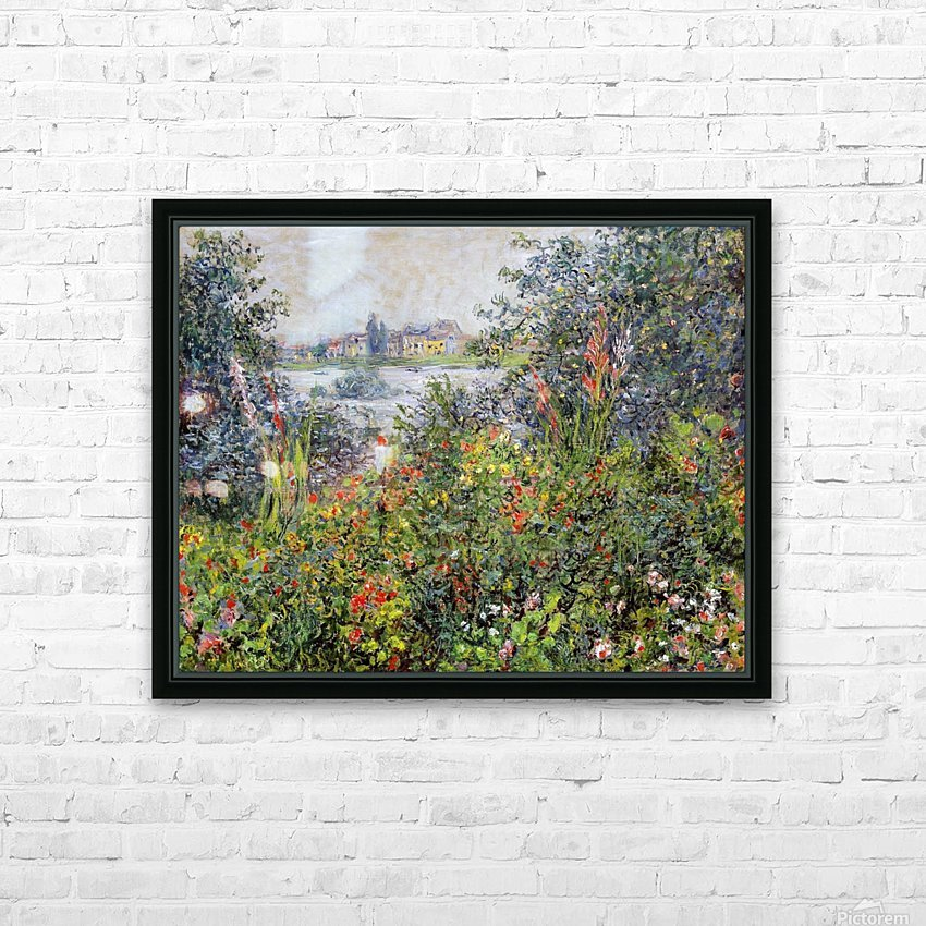 Flowers at Vetheuil HD Sublimation Metal print with Decorating Float Frame (BOX)